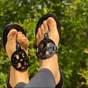 Tory Burch🔴Miller Sandal black Patent Leather 9.5